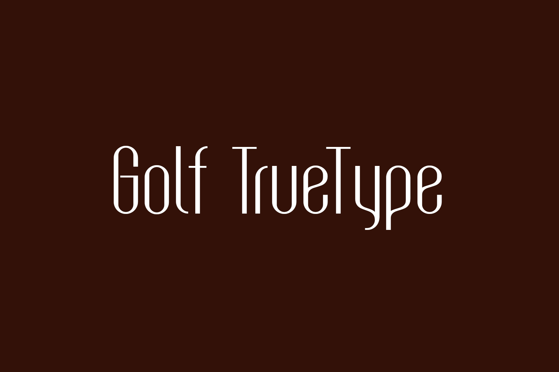 Golf TrueType