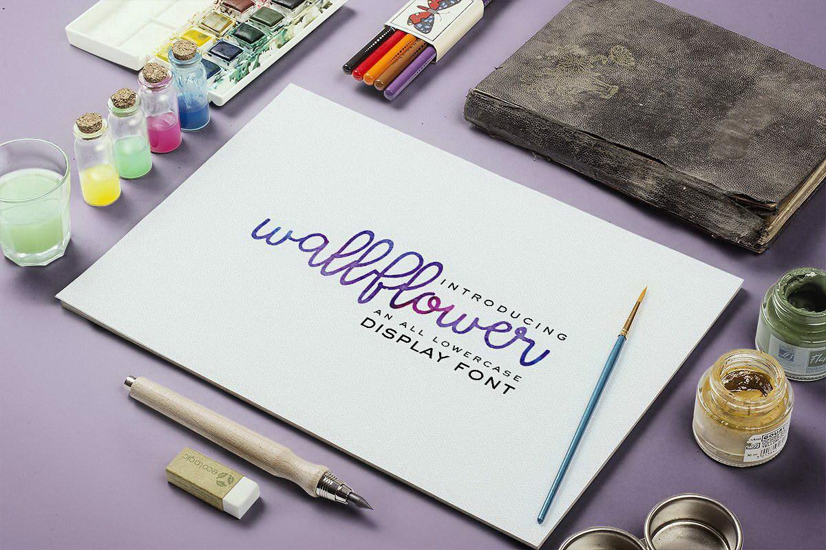Wallflower Lowercase Script Font