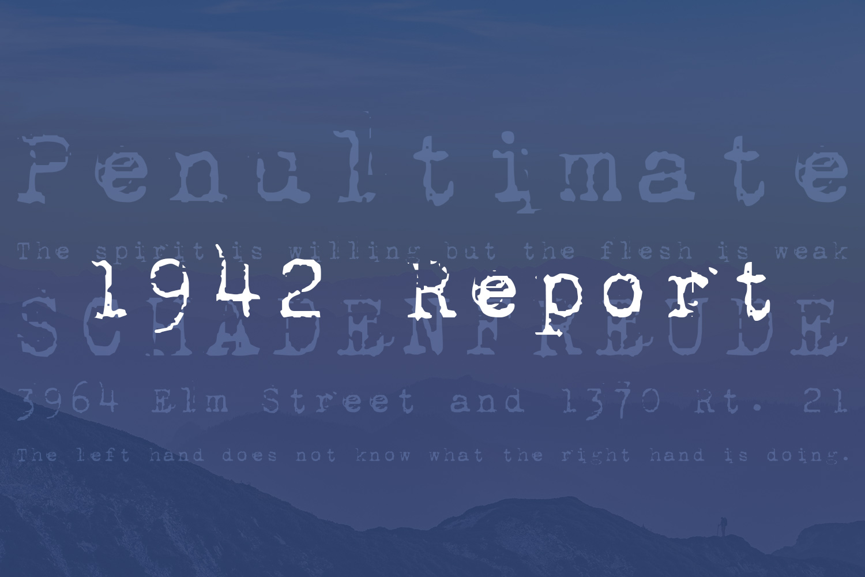 1942 Report Free Font