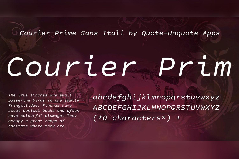 Courier Prime Sans