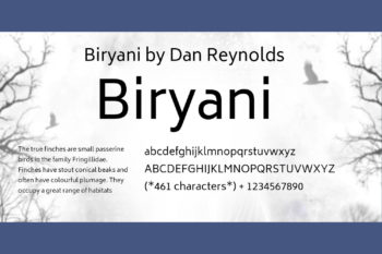 Biryani Free Font Family