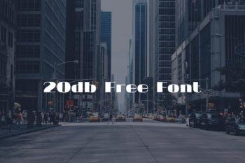 20db Free Font