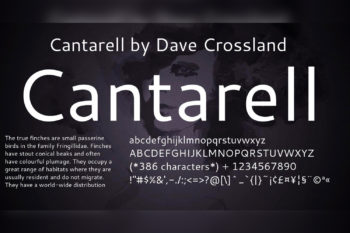 Cantarell Free Font Family