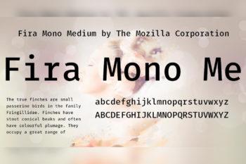 Fira Mono Free Font Family