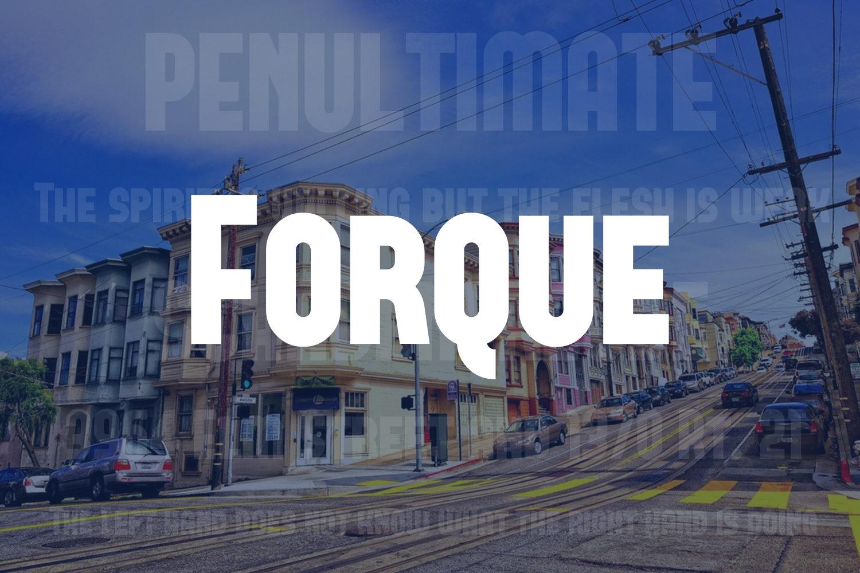 Forque Free Font