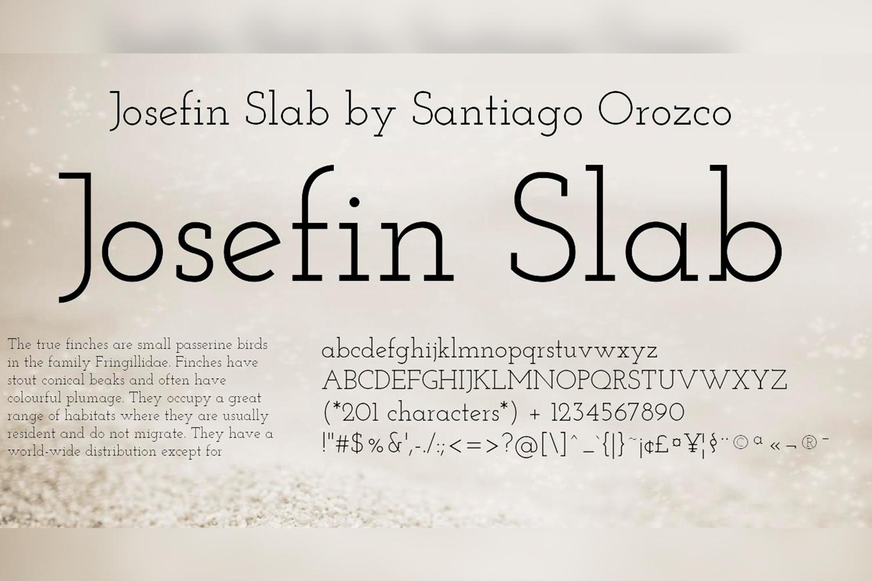 Josefin Slab Free Font Family