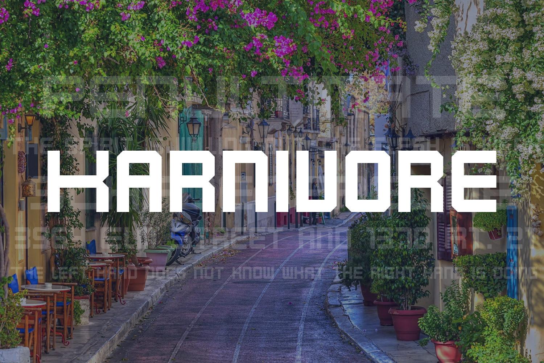 Karnivore Free Font