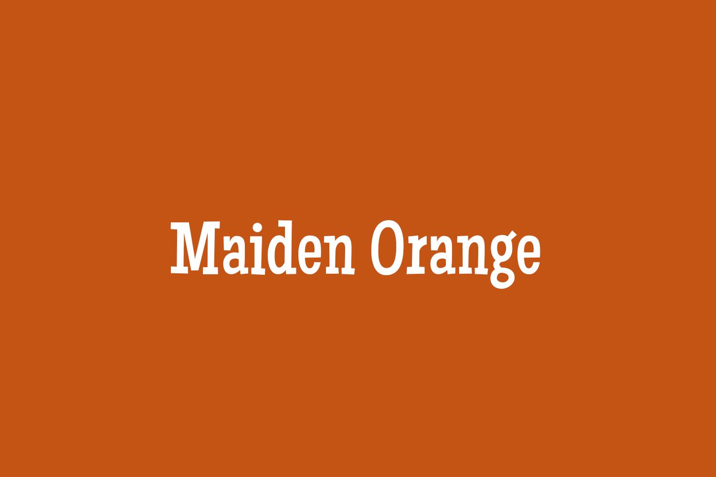 Maiden Orange