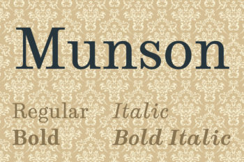 Munson Free Font Family