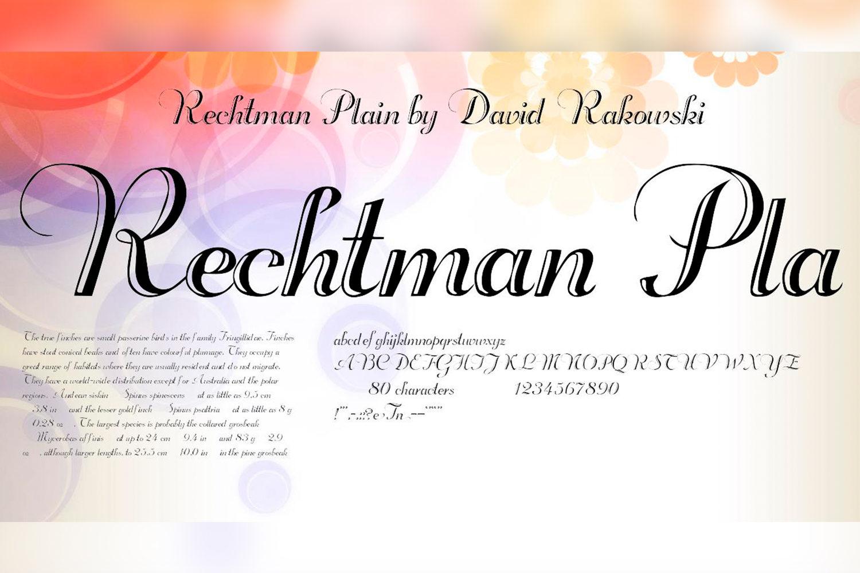 Rechtman Free Font