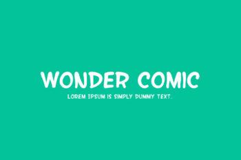 Wonder Comic Free Font Family