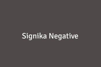 Signika Negative