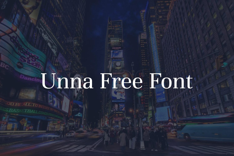 Unna Free Font Family
