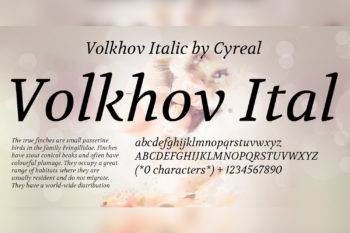 Volkhov Free Font Family
