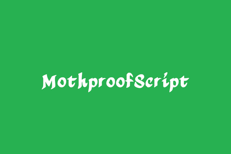 MothproofScript