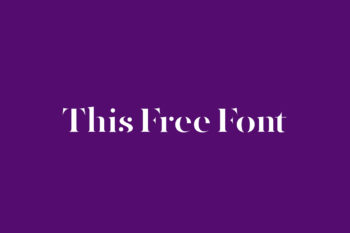 This Free Font
