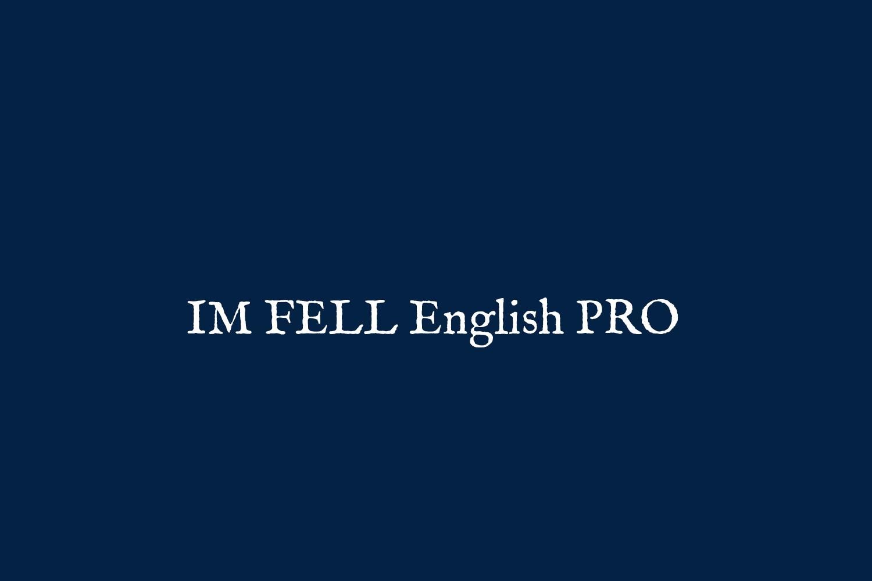 IM FELL English PRO