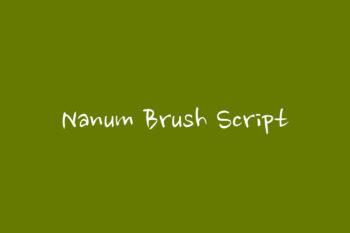 Nanum Brush Script