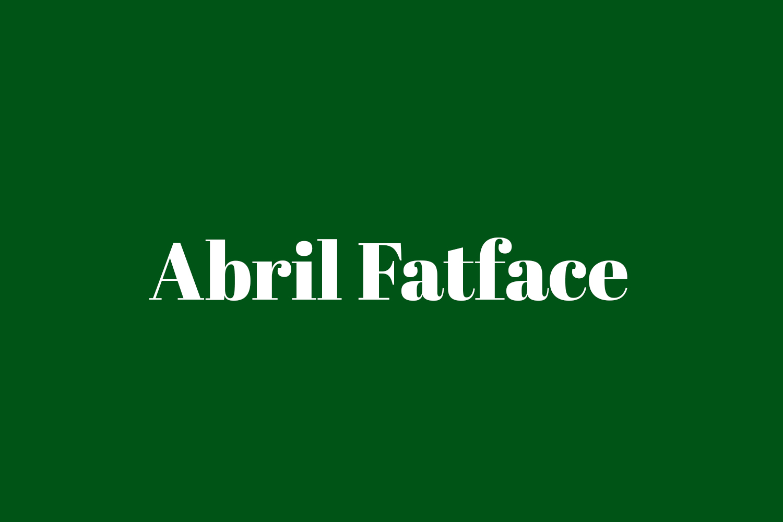 Abril Fatface