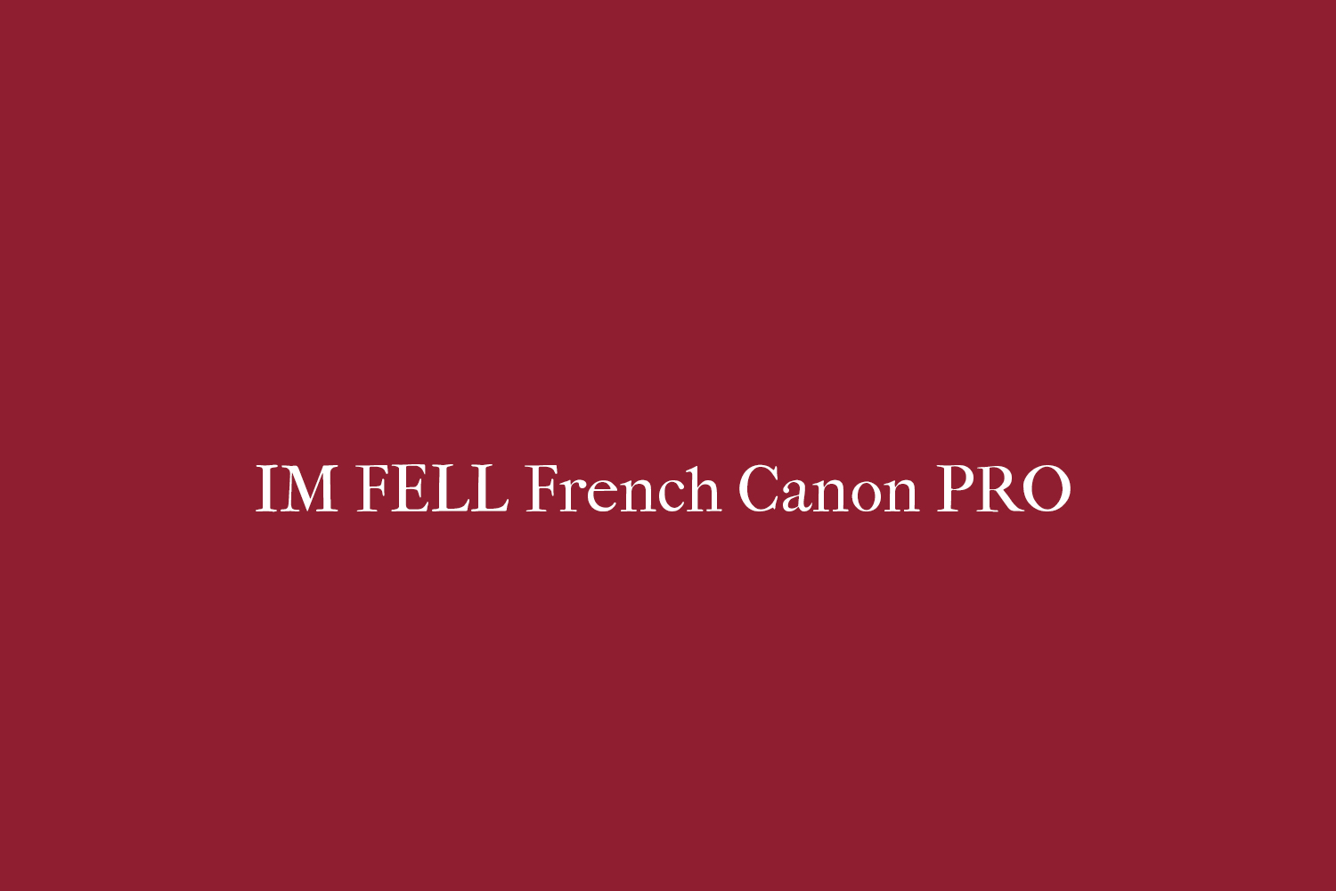 IM FELL French Canon PRO