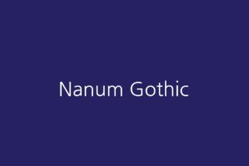Nanum Gothic