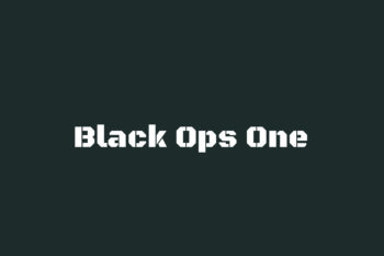 Black Ops One