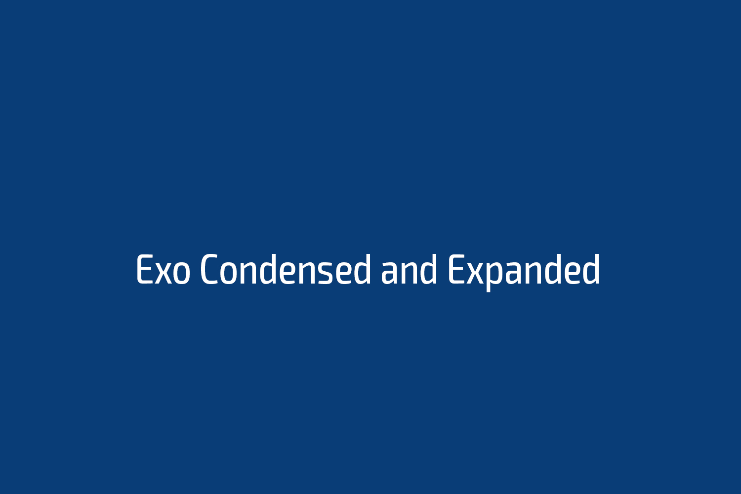 Exo Condensed and Expanded
