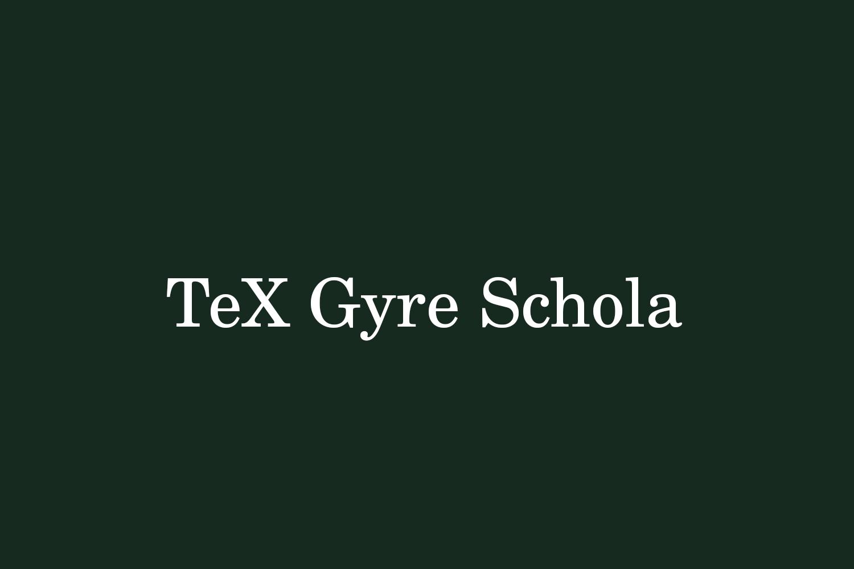 TeX Gyre Schola