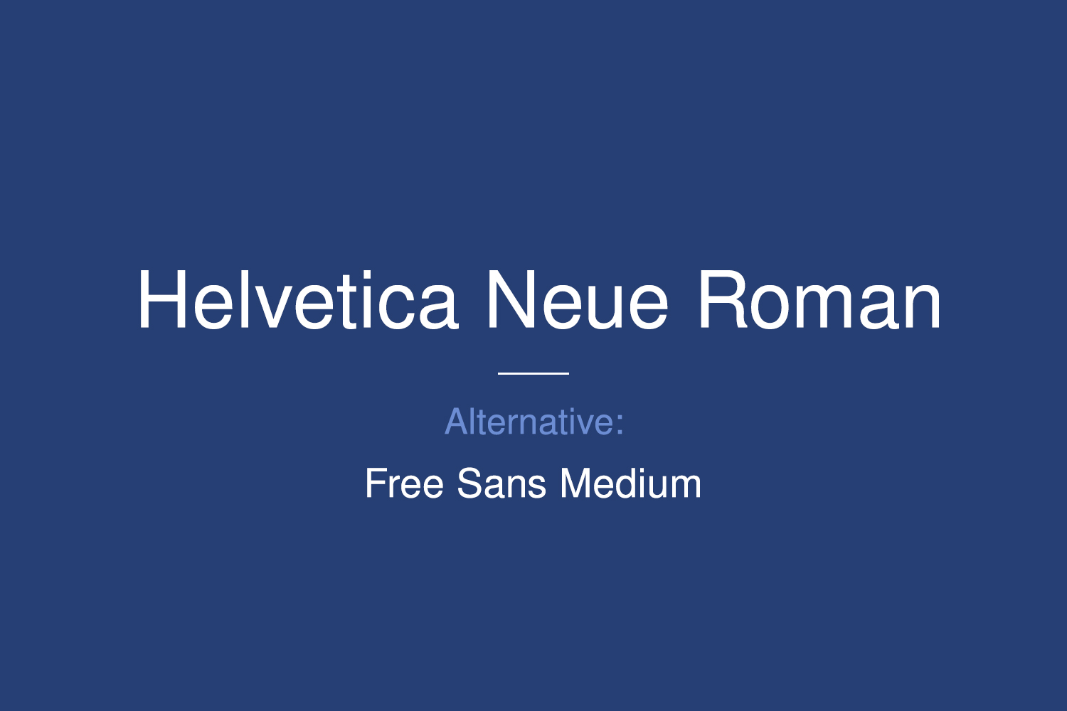 Helvetica Neue Free Font Family