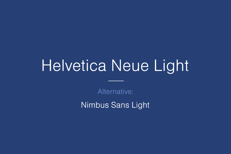 Helvetica Neue Free Font Family