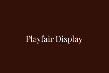 Playfair Display