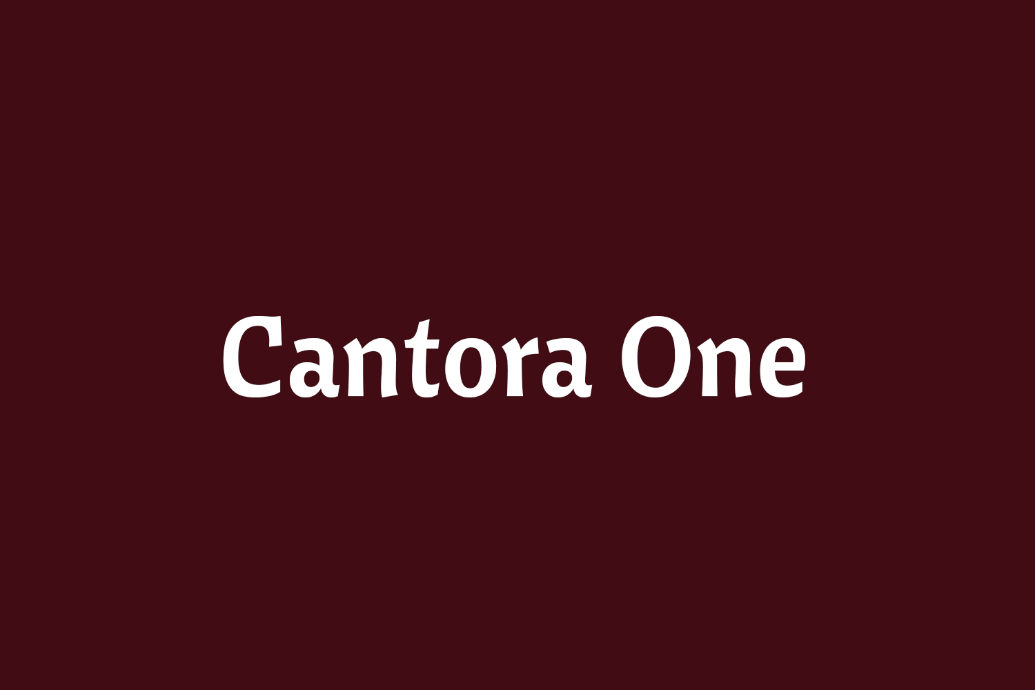 Cantora One