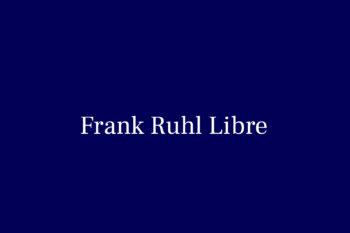 Frank Ruhl Libre