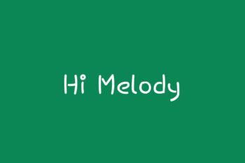 Hi Melody