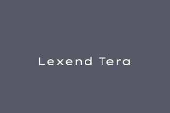 Lexend Tera