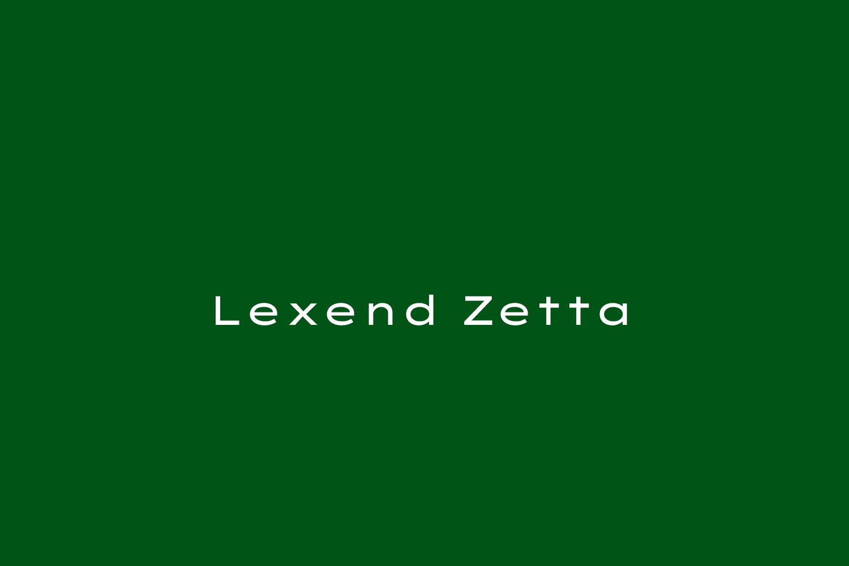 Lexend Zetta