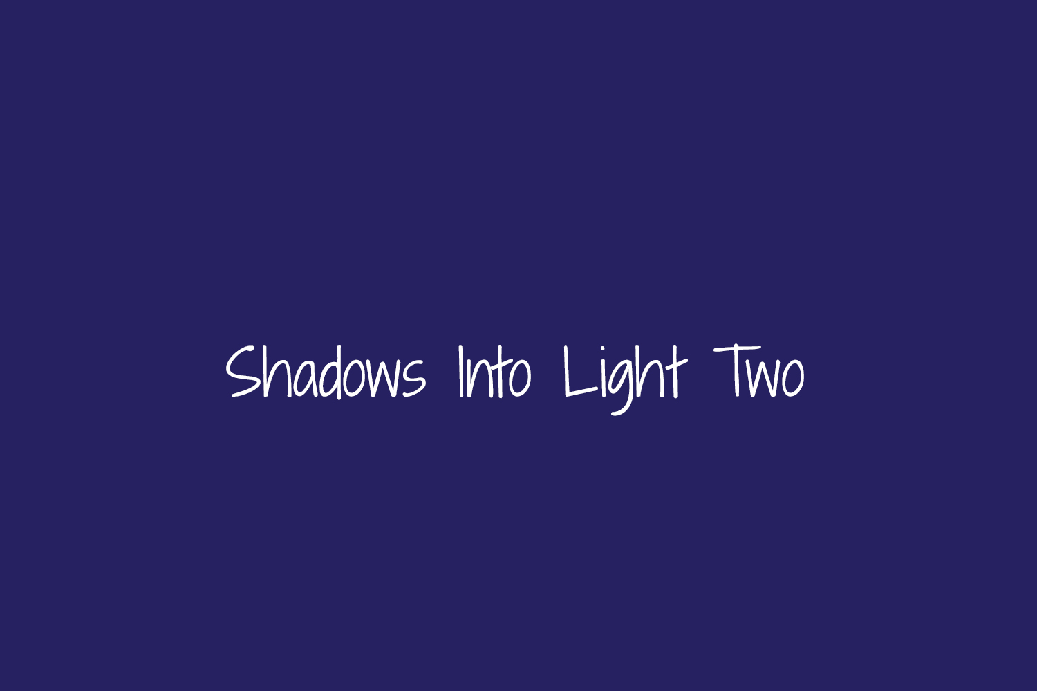 Shadows Into Light Two