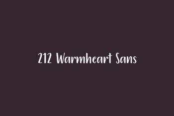 212 Warmheart Sans