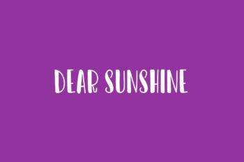 Dear Sunshine