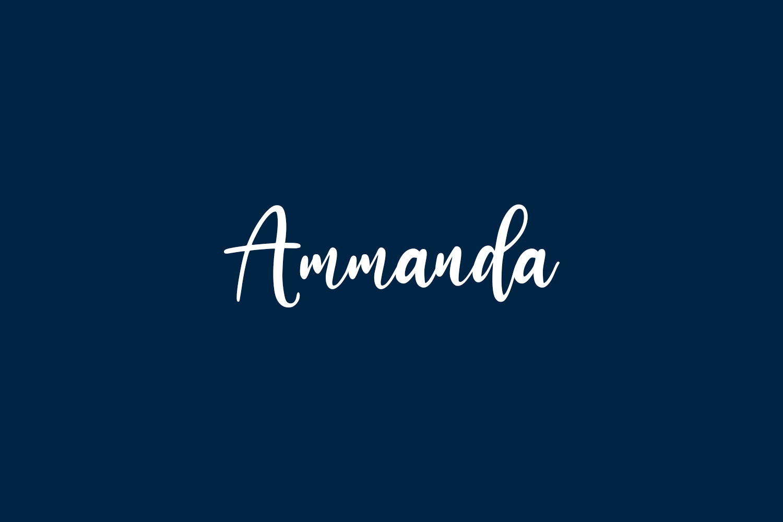 Ammanda Free Font