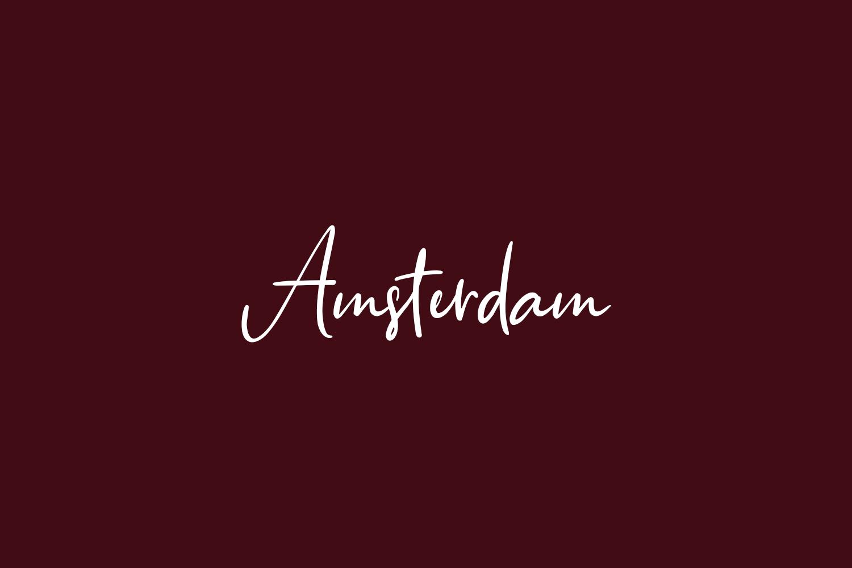 Amsterdam Free Font