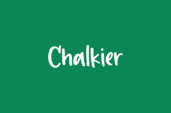 Chalkier Free Font