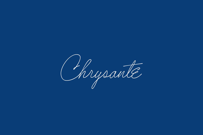 Chrysante Free Font