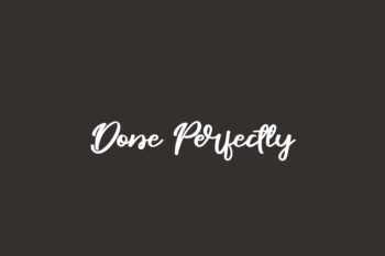 Done Perfectly Free Font