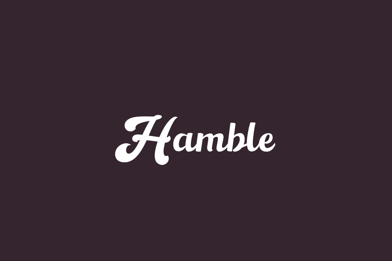Hamble Free Font