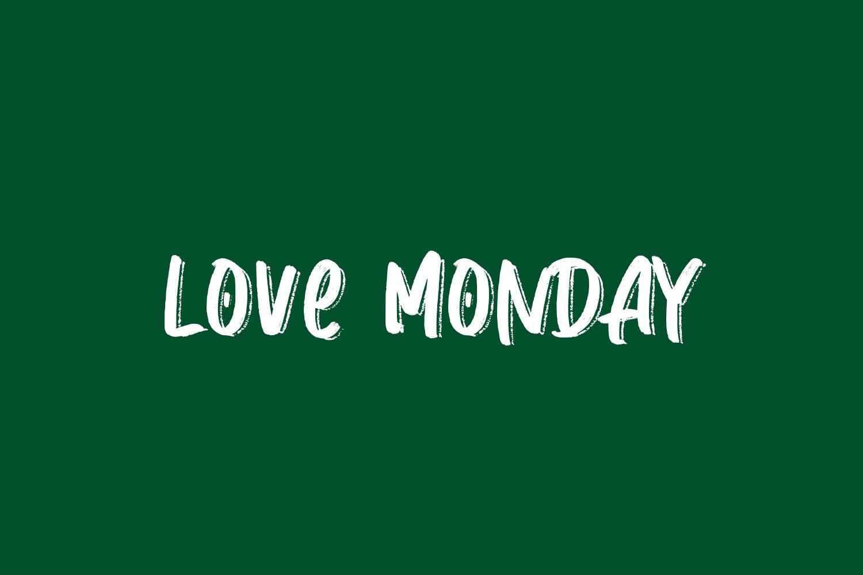 Love Monday Free Font
