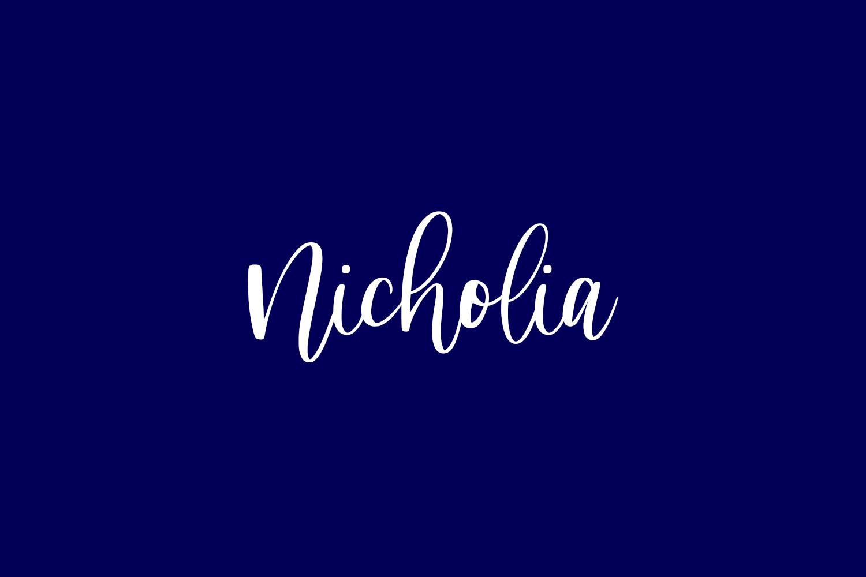 Nicholia