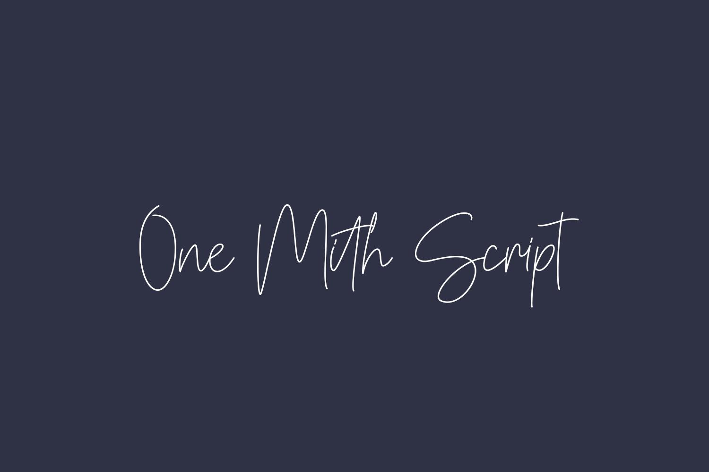 One Mith Script