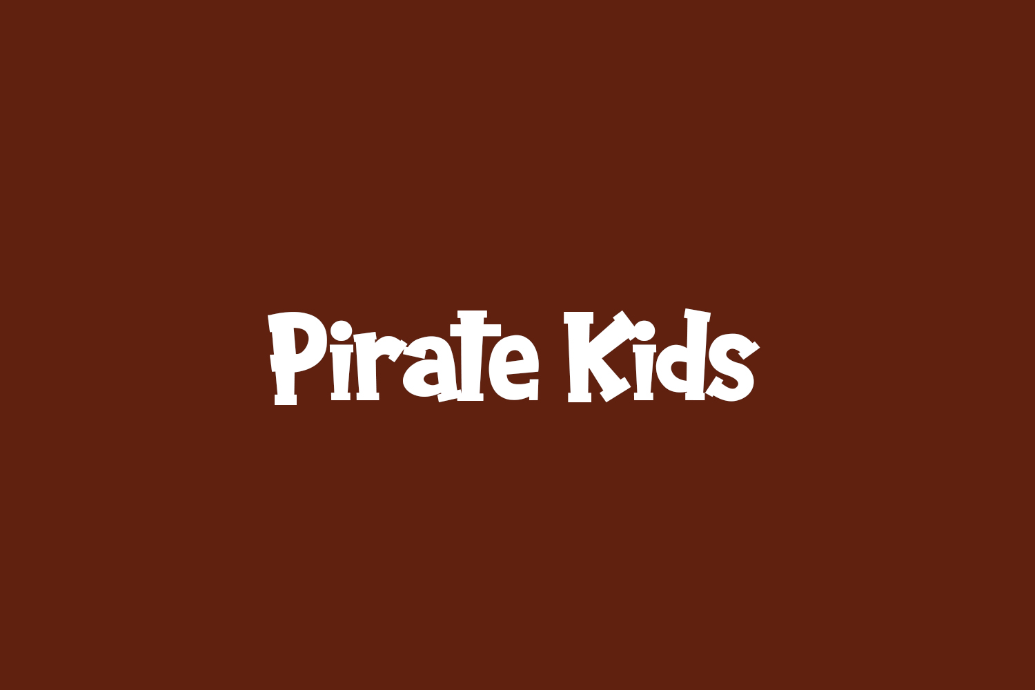 Pirate Kids Free Font