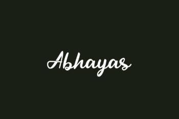 Abhayas Free Font